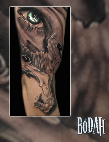 Best Tattoo Toledo Ohio, Ohio's Best Tattoo Artist, Toledo's Best Tattoo Artist, Toledo Ohio Tattoo, Amazing Tattoos, Amazing Tattoo, Best Realism Artist Bodah, Bodah Toledo Ohio Best Tattoo, eyeball tattoo, realistic eye tattoo, real eye tattoo, color re