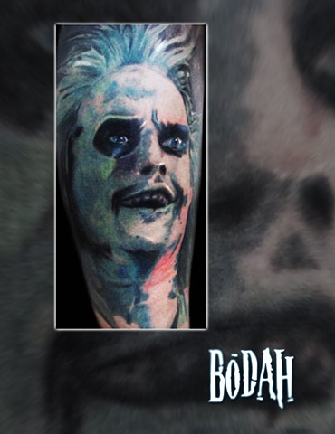 Best Tattoo Toledo Ohio, Ohio's Best Tattoo Artist, Toledo's Best Tattoo Artist, Toledo Ohio Tattoo, Amazing Tattoos, Amazing Tattoo, Best Realism Artist Bodah, Bodah Toledo Ohio Best Tattoo, Beetleguise, Beetlejuice, Beetleguese, Beetlejuice portrait, co