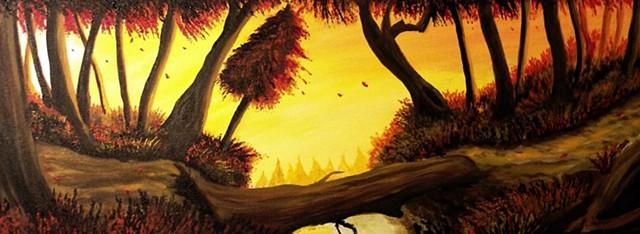 Autumn, fall,trees,Yellow, Bright colors, beautiful