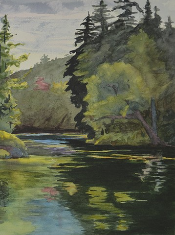 Plein Air is an incredible experience in the Adirondacks. Thank you to the Slavins for giving me access to their unbelievable camp.