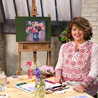Watercolor floral class at craftsy.com