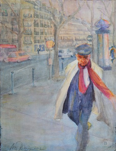 L'homme aux foulard rouge (The man with the red scarf)