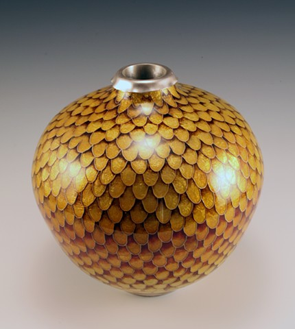 Golden Feather Vessel