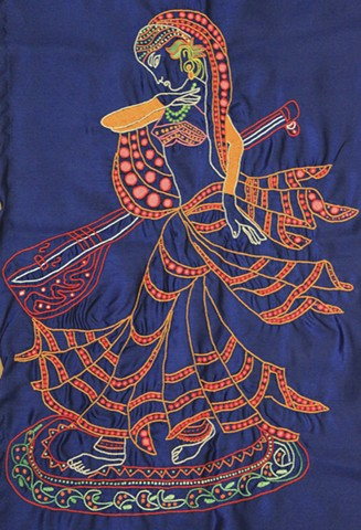 """""""Woman with sitar"""""""