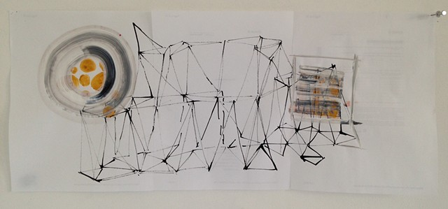triangulated sculpture drawing #5