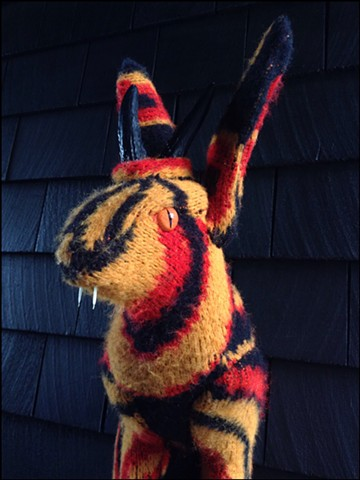 chupacabra jackalope sweater faux taxidermy august clown gallery australia 80's cosby ugly