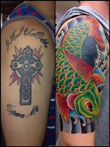 Koi & Waves Cover-Up