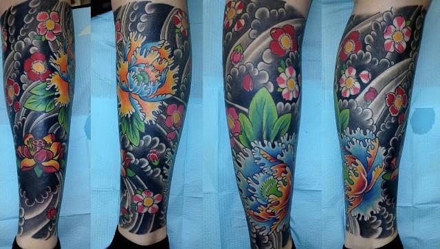 Flower Leg Sleeve