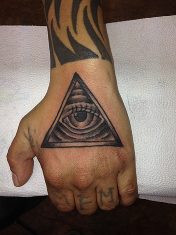All Seeing Eye on Hand