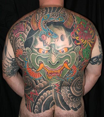 hannya hanya snake tattoo tattooagogo hebe irezumi horimono backpiece