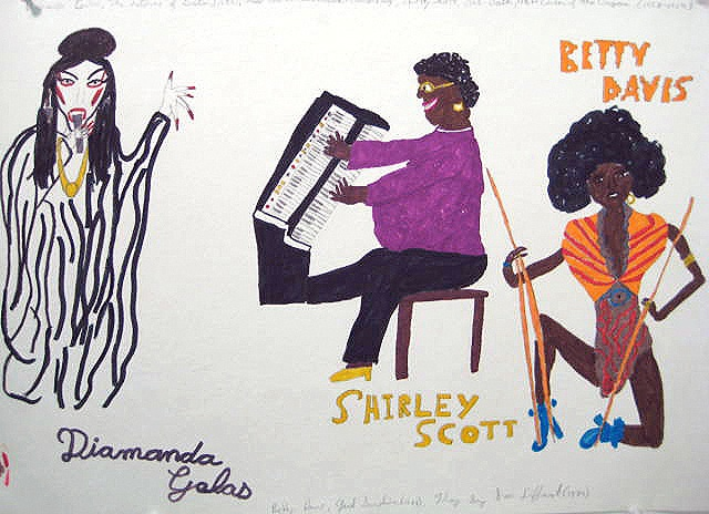 Diamanda Galas, Shirley Scott and Betty Davis