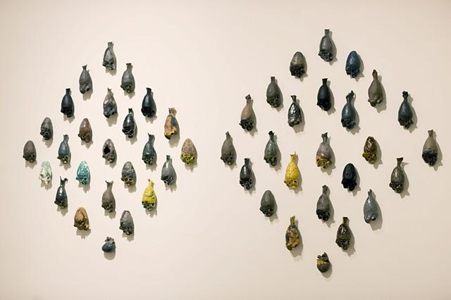 ceramic, hearts, charity thackston, art