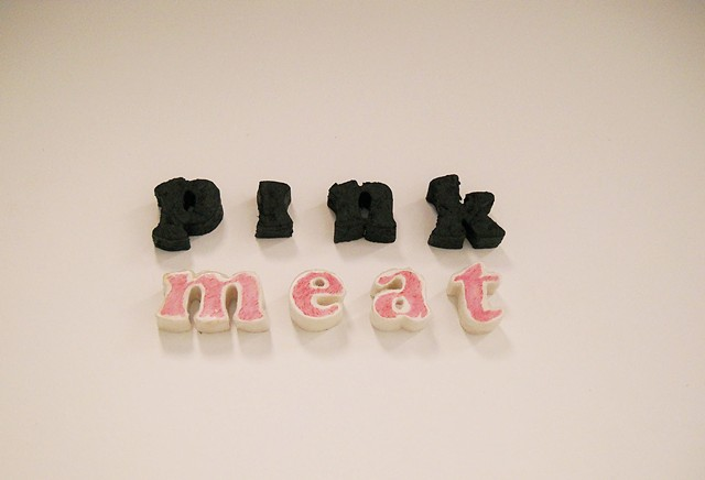 venus envy 2012, meat, ceramic, installation, charity thackston