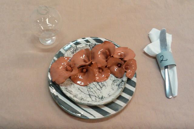 tableware, ceramic, installation, art, charity thackston