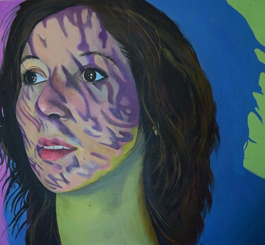 emily lovejoy Artist art painting acrylic on canvas portrait of jordan koppens by emily lovejoy
