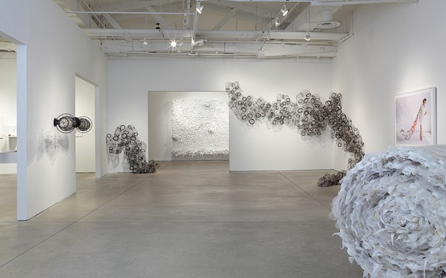Image of Tied, my current exhibition at the Visual Arts Center of Richmond