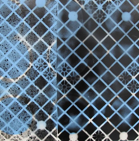 untitled (black and blue net)