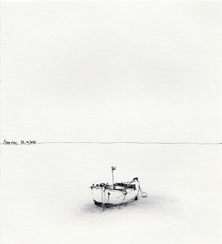 drawing, Aegean Sea, Amorgos, Greece, Dimitra Skandali, Don Soker Contemporary Art, San Francisco