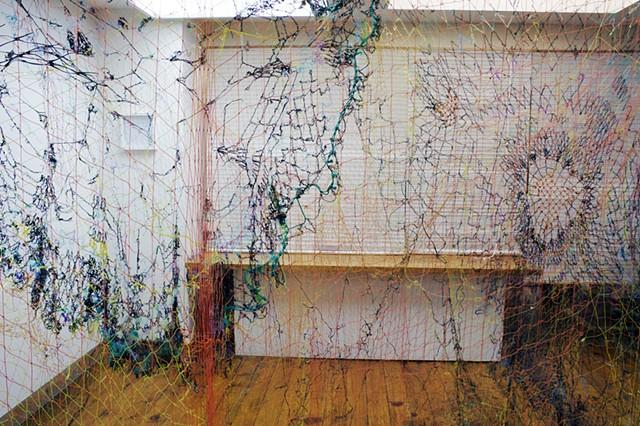 seaweed, crocheted seagrass, fishing nets, Cyclades, Aegean Sea, Greece, Pacific, Dimitra Skandali, Don Soker Gallery, San Francisco