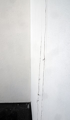 Taking the lines out of the wall 1