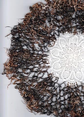 crocheted seaweed, seagrass, tradition, Cyclades, Aegean Sea, Greece, Pacific, Dimitra Skandali, Don Soker Gallery, San Francisco
