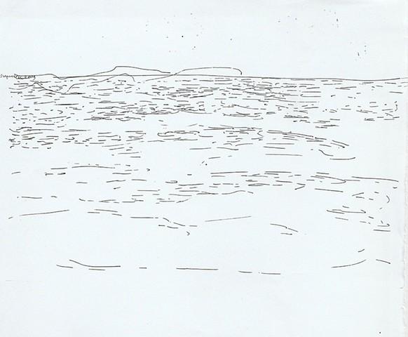 drawing, Aegean Sea, Paros, Greece, Dimitra Skandali, Don Soker Contemporary Art, San Francisco