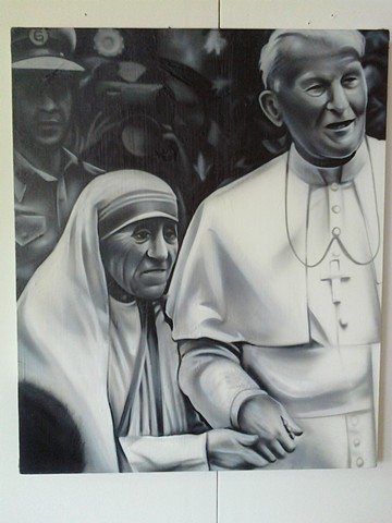 Pope and Mother Teresa