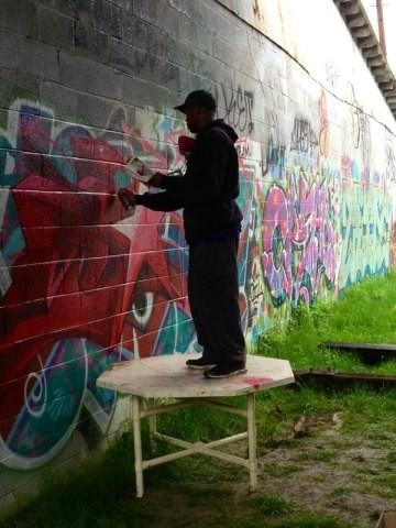 Brandon j donahue for Asheville mural project