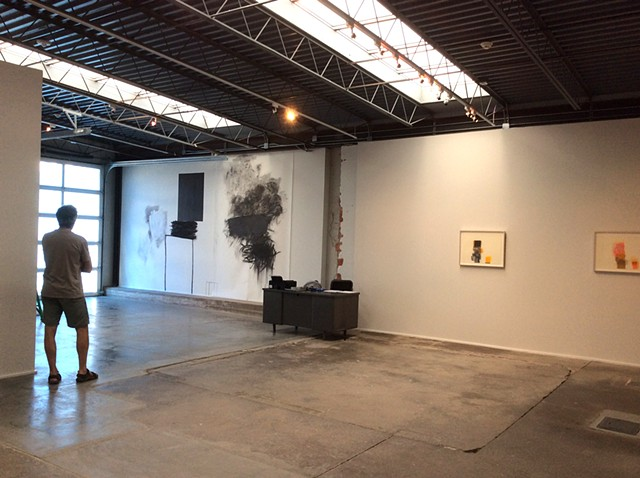 Marfa Contemporary, 'Framing the Unframable', Wall drawing and Works on paper. Marfa, TX