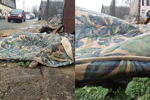 ipad, digital image, louise orourke, mattress, discarded, photography