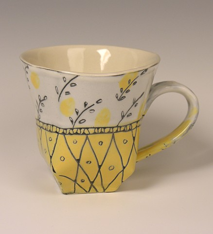 Hand built cup in cone 6 porcelain