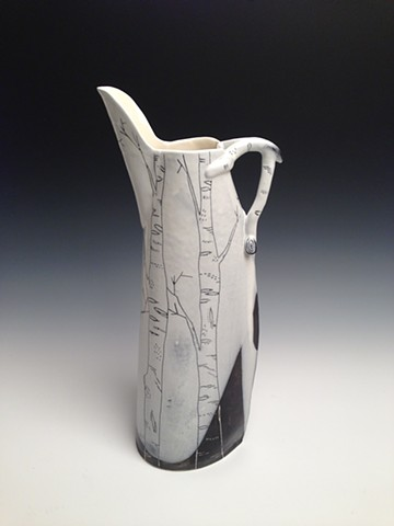 White Birch Pitcher