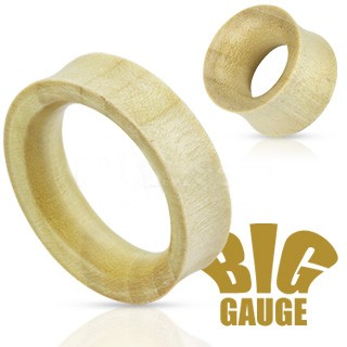 White Crocodile Wood Flared Tunnels
