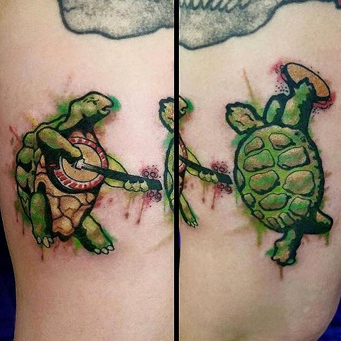 Watercolor Terrapin Turtle Tattoo