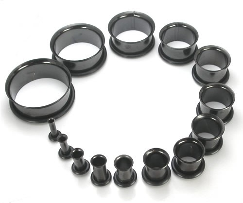 Black Titanium Single Flared Tunnels