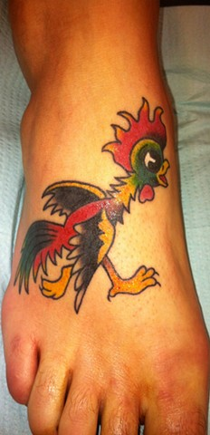 Rooster Foot Tattoo