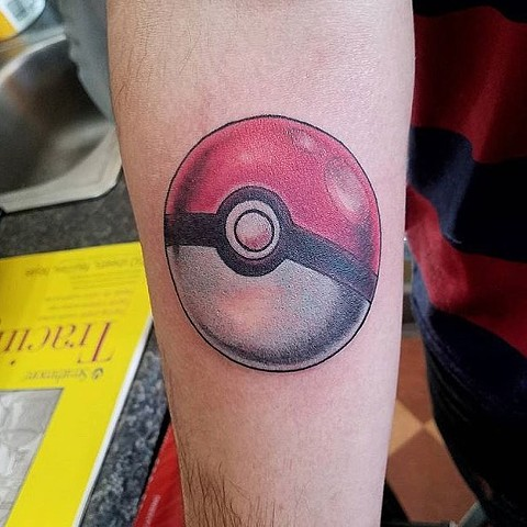 Pokeball Forearm Tattoo