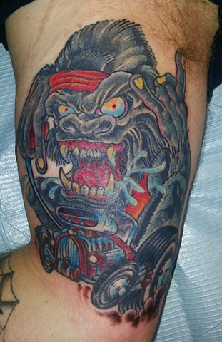 "The Black Dahlia Murder ""Ape"" Tattoo"