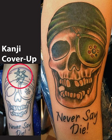 The Goonies Never Say Cover Up Tattoo