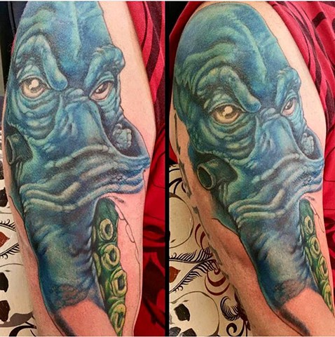 Octopus Sleeve Tattoo in Progress