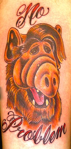 "Alf ""No Problem"" Tattoo"