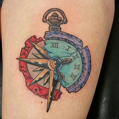 Clock / Compass Tattoo