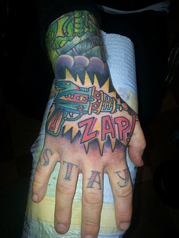 Hand Zapper Tattoo