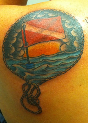 Dive Flag Rope Traditional Tattoo