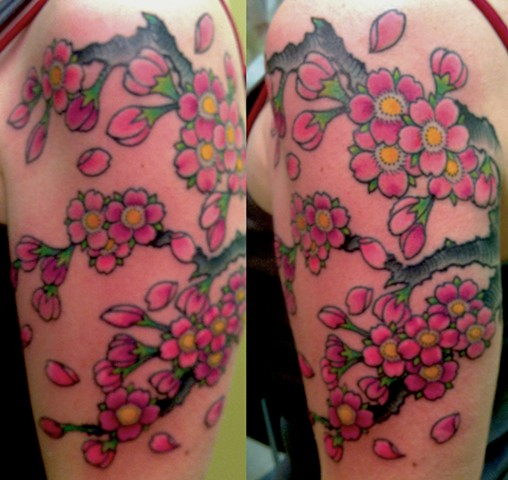 Cherry Blossom Branch Tattoo