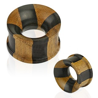 Ebony Areng and Jackfruit Wood Flared Tunnels