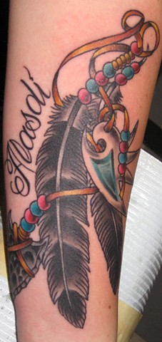 Native American Feathers Tattoo