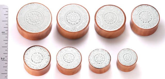 Saba Wood Resin Inlay Plugs