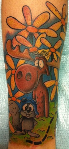 Rocky and Bullwinkle Tattoo