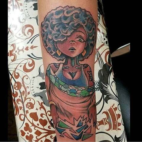 Comic Girl Tattoo